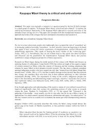 kaupapa māori theory is critical and anti colonial pdf download