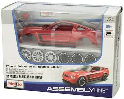 2012 ford mustang kits amazon com maisto 1 24 scale assembly line 2012 ford mustang