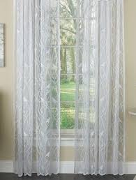 songbird lace rod pocket curtain panel white linens4less