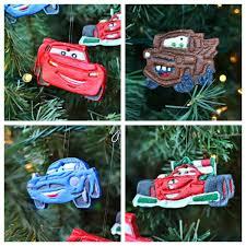 disney cars ornaments made with salt dough in lieu of preschool