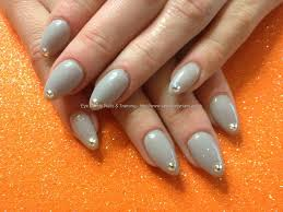 acrylic nails gray nail polish designs