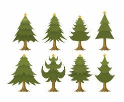 free cartoon christmas tree vector set vector art u0026 graphics