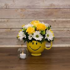 Smiley Face Vase 10 Most Beautiful Photographs Of Yellow Smiley Mug Flower Bouquet