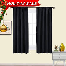 Black Out Curtains Nicetown Black Blackout Curtains Panels Solid