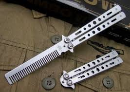 butterfly comb stainless steel practice balisong butterfly comb benchmade