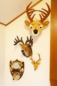 fake deer target animal head wall decor nursery best baby room images on