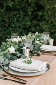 Table Setting Chargers - reception décor photos elegant place setting for garden