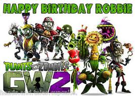 Plants Vs Zombies Decorations Plants Vs Zombies Gw2 Cake Decoration Icing Sheet Personalised