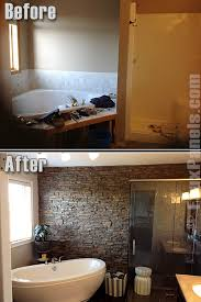 Accent Wall In Bathroom Bathrooms On A Budget Featured Remodels Creative Faux Panels