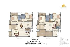 salarpuria sattva senorita floor plans for 2 3 bedroom
