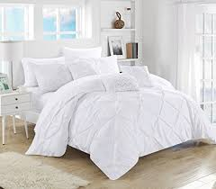 Ruffled Bed Set Chic Home 10 Pinch Pleated Ruffled Comforter Set