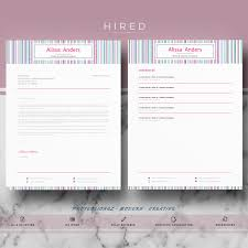 Creative Resume Templates Pinterest Creative Resume Template For Ms Word U201calissa U201d Creative Resume