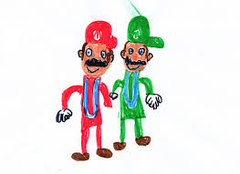 making fun crappy kids drawings nintendo characters