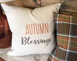 autumn pillow etsy
