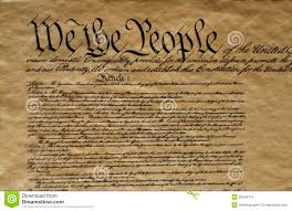 close up of the united states constitution stock photo image
