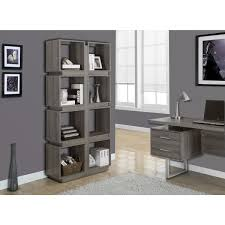 Dark Bookcase Dark Taupe Reclaimed Look 71 Inch Bookcase Free Shipping Today