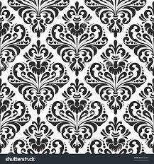 elegant damask wallpaper black and white vintage pattern