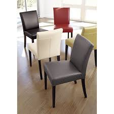 Dining Room Chairs Leather by Lowe Smoke Leather Dining Chair Side Chair Lowes And Crates
