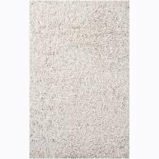 hand woven duketi white shag rug 5 u0027 x 7 u00276 free shipping today