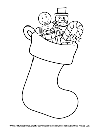 stocking coloring page printable stocking coloring page