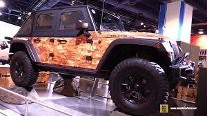 jeep bandit stock 2017 jeep wrangler trailstorm concept walkaround sema 2016