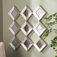 harper blvd diamante mirrored squares wall sculpture silver