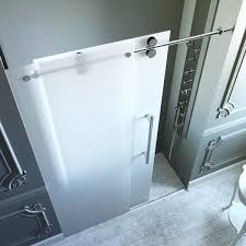 Sliding Shower Doors For Small Spaces Frosted Glass Sliding Doors Bathroom Image Of Sliding Glass Doors