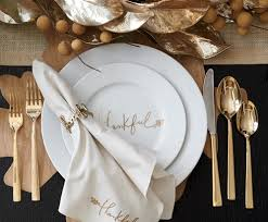 thanksgiving table setting ideas crate and barrel