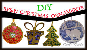 craft klatch wood resin and glitter christmas ornaments diy