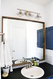 How To Design Your Bathroom by Framing Our Bathroom Mirror Love U0026 Renovations