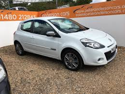 used renault clio dynamique tomtom white cars for sale motors co uk