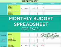 Financial Spreadsheet Best 25 Monthly Budget Spreadsheet Ideas On Monthly