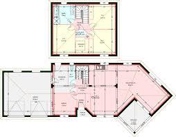 plan de maison en l avec 4 chambres plan maison 4 chambres etage gascity for