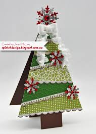 splotch design jacquii mcleay stampin up christmas tree card