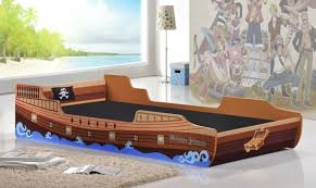 Boys Bed Frame 3ft Single Childrens Pirate Ship Novelty Theme Boys Bed Frame