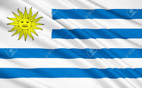 Flag Uruguay The National Flag Of Eastern Republic Of Uruguay Montevideo Stock