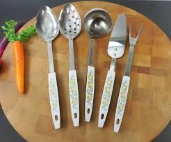 Kitchen Utensils Sold Vintage Kitchen Utensils Vegetable Pattern 5 Set