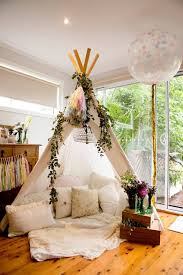 florals and teepee boho party idea hideaway spaces pinterest