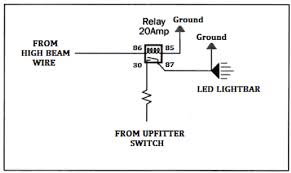 how to wire led light bar to high beam how to tap into high beam wire