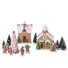 holiday time 15 pc gingerbread village set walmart com