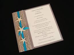Inexpensive Wedding Programs Urban Starfish Teal Beach Wedding Invitation Sample Beach
