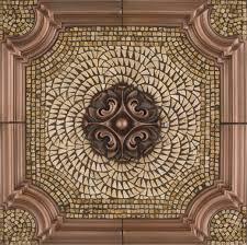 Metal Mural Romeo Mosaic Tile Backsplash - Medallion tile backsplash