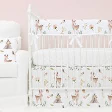 Woodland Duvet Blakely U0027s Boho Woodland Deer Bumperless Crib Bedding Caden Lane