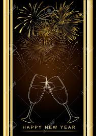 happy new year backdrop happy new year background with fireworks and glass of chagne