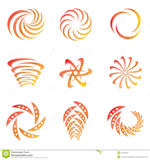 creative design elements in wave motion in yellow and orange color