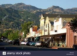 usa calistoga california downtown calistoga napa valley small town