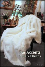 Faux Fur Throw Blanket Plush Faux Fur Thick White Polar Bear Throw Blanket Bedspread