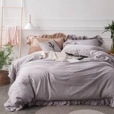 Light Grey Bedspread by Online Get Cheap Grey Ruffle Duvet Aliexpress Com Alibaba Group