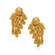 earrings gold buy senco gold 22k 916 yellow gold stud earrings online at low