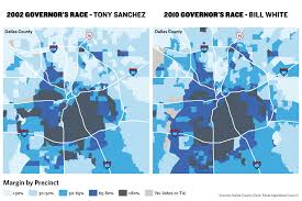 Dallas County Zip Code Map by As Texas Gets Increasingly Red Dallas Goes Blue The Texas Tribune